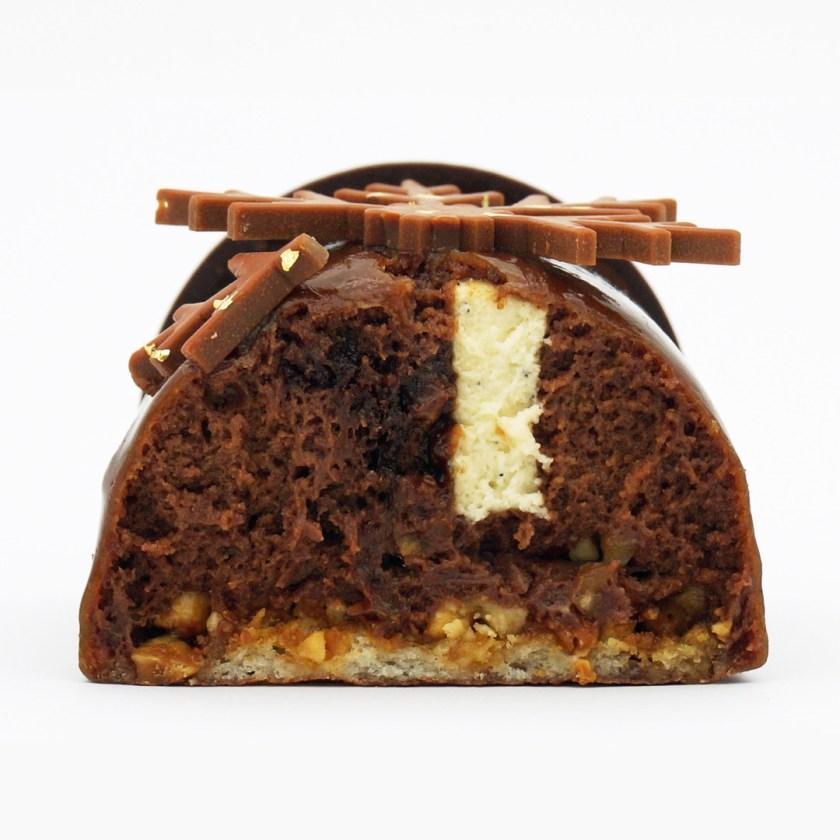 bûche praliné la maison du chocolat