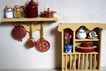 Lets Make A Dollhouse Plate Shelf To Hang On The Wall