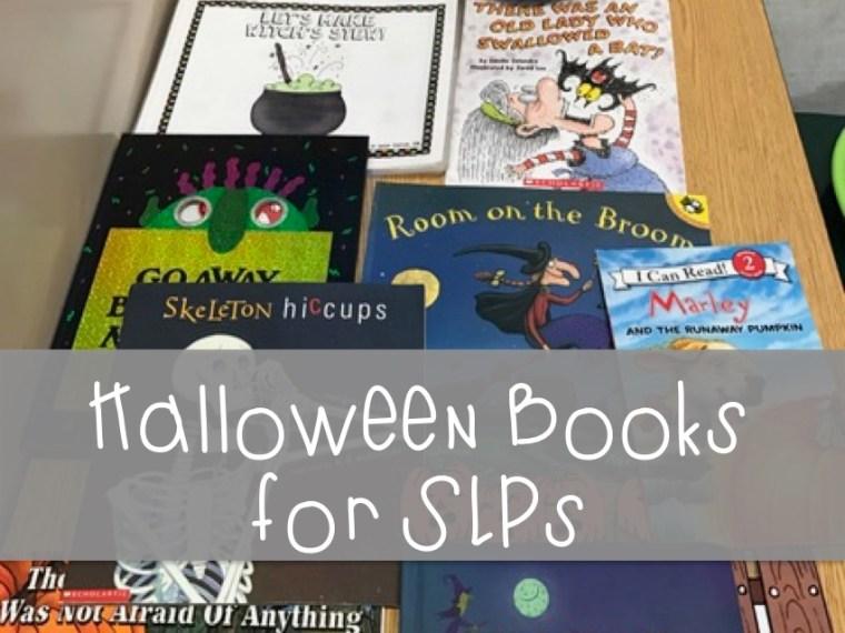 halloween books for SLPs