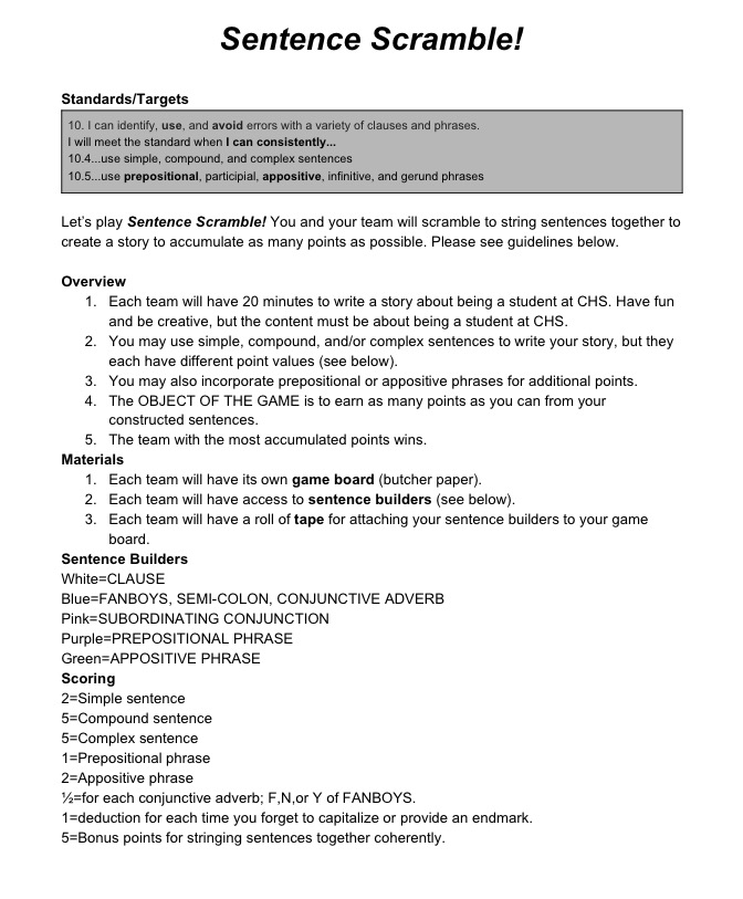 Lets Play Project 180 Day 52 Project 180 – Appositive Phrases Worksheet