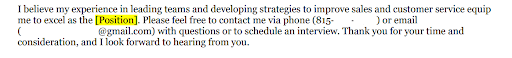 example of closing language asking for interview in a cover letter