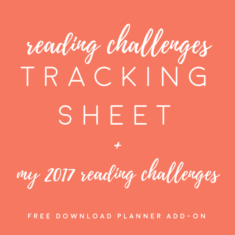 2017 Reading Challenge Tracker Sheet // my 2017 challenges
