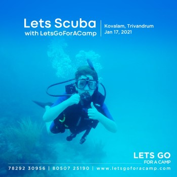 Lets suba diving with lets go for a camp in Kovalam