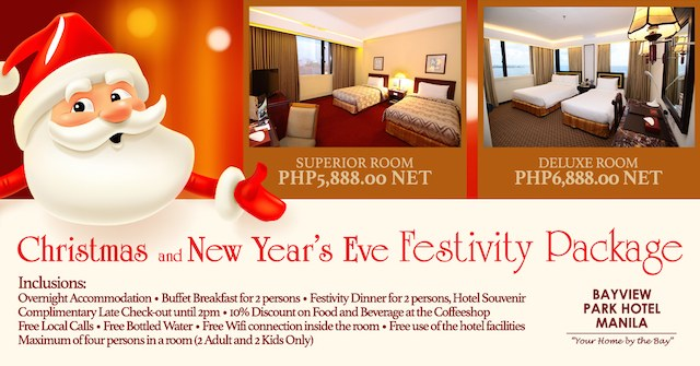 Bayview Park Hotel Manila Package
