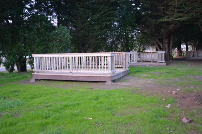Camping platform at Costanoa