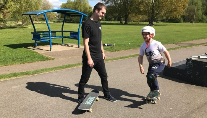 Child having a Private Skateboard Lesson with our Instructor