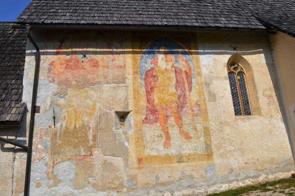Bohinj church fresco