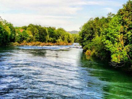 Sava river in Tacen