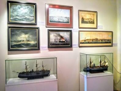 Remarable paintings of the sea journeys.