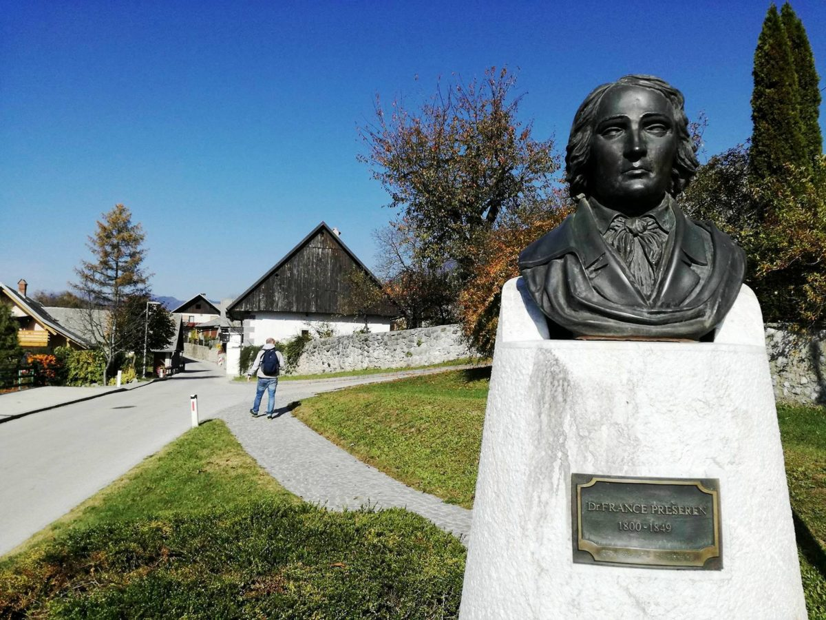 Visiting Prešeren's birth house in Vrba
