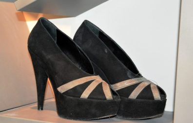 Shoes donated by the great pop diva Helena Blagne.