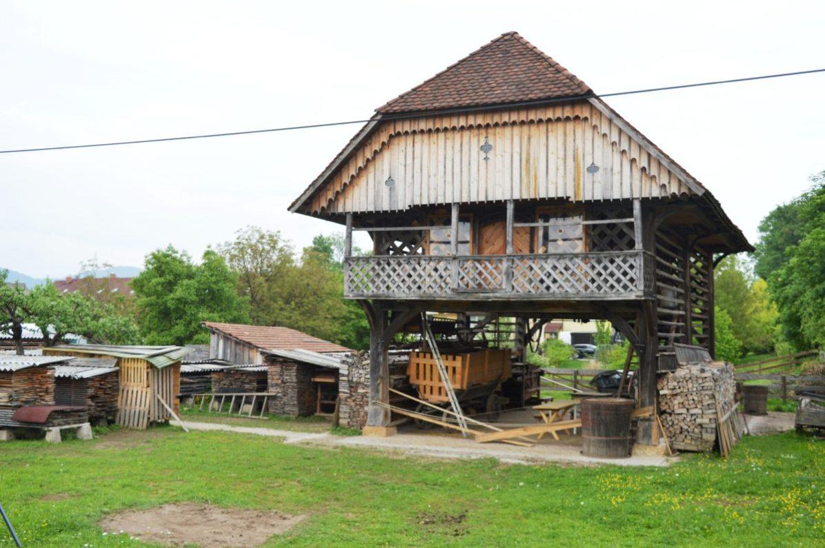 A traditional Slovene hayrack-
