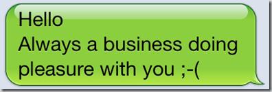awkward text