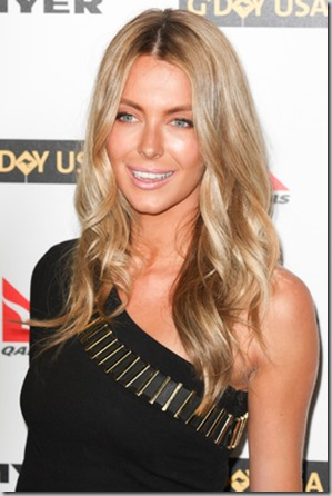 HOLLYWOOD, CA. - JANUARY 16: Jennifer Hawkins attends the G'Day USA black tie gala on January 16, 2010 at Hollywood and Highland Grand Ballroom in Hollywood.