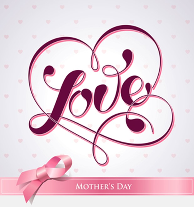 Lettering LOVE. For themes like Mother's Day, Valentine's Day.