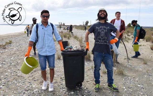 Lady's Mile Beach Cleanup II Big Trash Bins