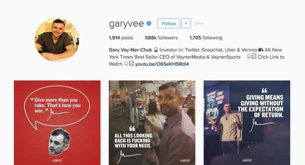 @garyvee instagram account and strategy - letsreachsuccess.com