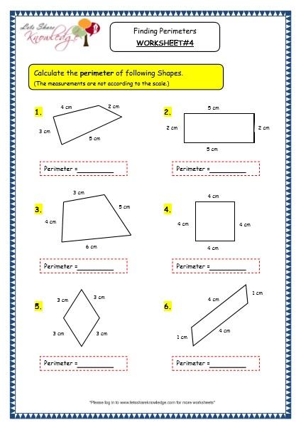 Grade 3 Maths Worksheets 14 8 Geometry Finding