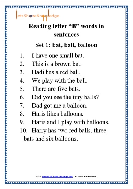 Article Worksheets Grade 1