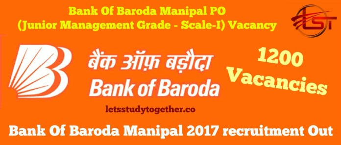 Bank Of Baroda Manipal 2017 recruitment