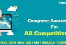 Computer Awareness Quiz for IBPS Clerk