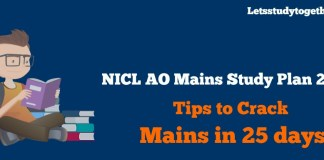 NICL AO Mains Study Plan 2017 - Tips to Crack Prelims in 25 days