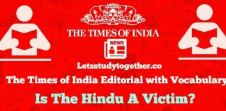 Times of India Editorial