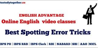 Online English video classes : Best Spotting Error Tricks