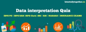 Data Interpretation Questions for IBPS PO Mains