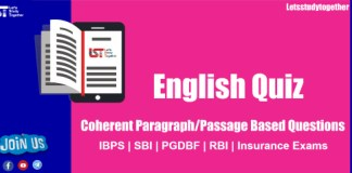 English Coherent Paragraph Based Questions