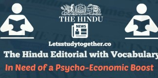 Daily Editorial Vocabulary from The Hindu Newspaper