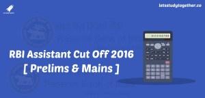 RBI Assistant Cut Off 2016