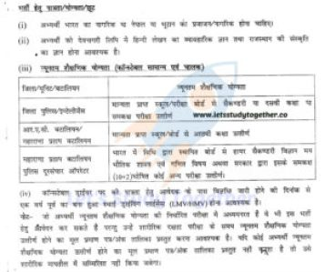 Rajasthan Police Constable Education Qualification