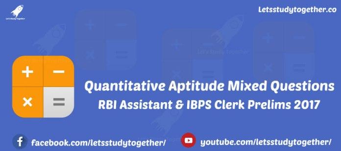 Quantitative Aptitude Miscellaneous Questions