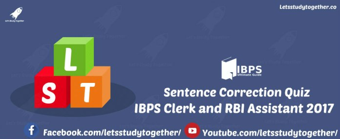 Sentence Correction Quiz