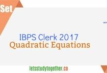 Quadratic Equation Quiz For IBPS Clerk