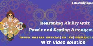 Puzzle and Seating Arrangement with Video Solution for IBPS Clerk Mains