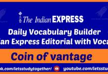 The Indian Express Editorial with Vocabulary