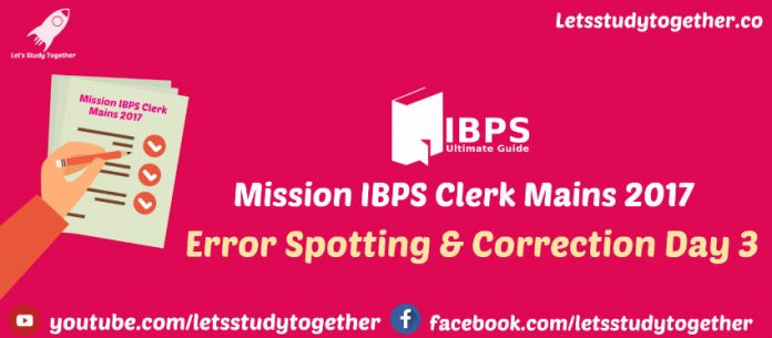 Error Spotting & Correction