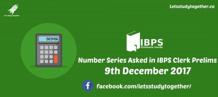 Number Series Asked in IBPS Clerk Prelims
