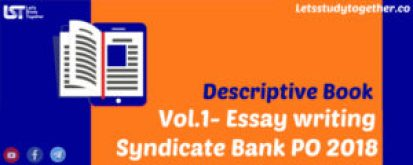 Descriptive Book for Syndicate Bank PO