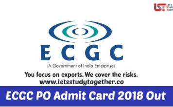 ECGC PO Admit Card