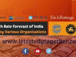 GDP Growth Rate forecast of India