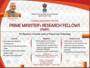 Prime Minister Fellowship Scheme
