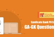 General Awareness Questions Asked in Syndicate Bank PO