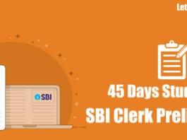 Study Plan for SBI Clerk 22018