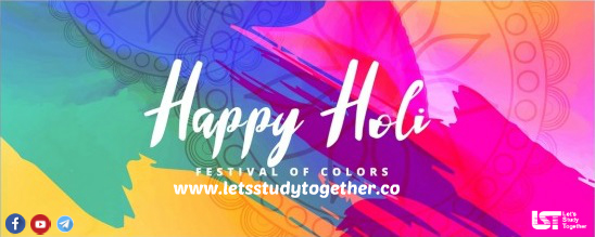 A very Happy Holi to all Letsstudytogether (LST) users