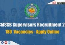 RSMSSB Supervisors Recruitment 2018