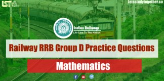 Railway RRB Group D 2018 Mathematics Practice Questions