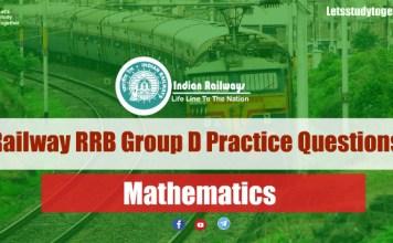 Railway RRB Group D 2018 Mathematics Practice Questions